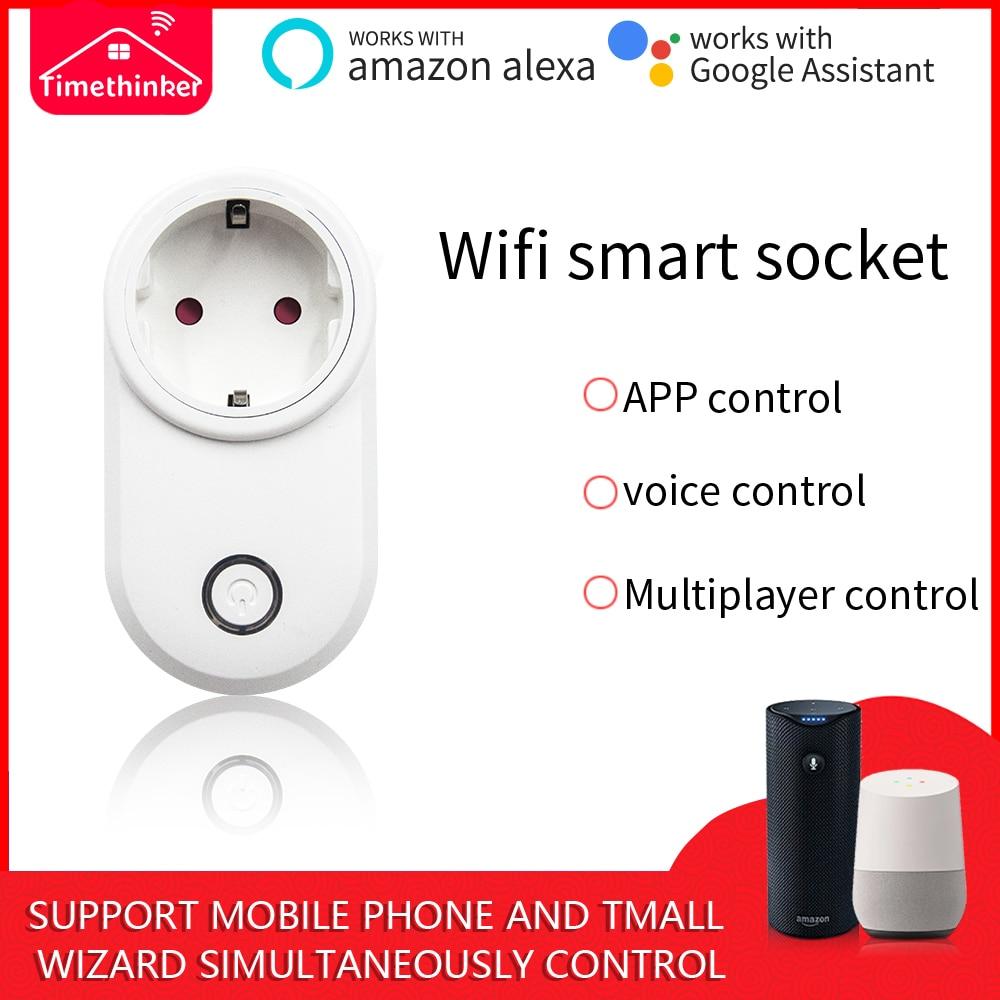 Ewelink Wifi Switch Work with Alexa Echo Google Home UK US EU Plug APP  Voice Remote Control Smart Home Automation