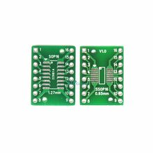 1 sztuk Pitch IC gniazdo adaptera/płyta adaptera/PCB TSSOP16 SSOP16 SOP16 do DIP16 Transfer DIP na płycie tablica do notatek skok 0.65 /1.27 MM(China)
