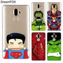 DREAMFOX M145 Super Hero Iron Man Soft TPU Silicone Cover Case For Huawei Mate 8 9 10 20 30 Lite Pro