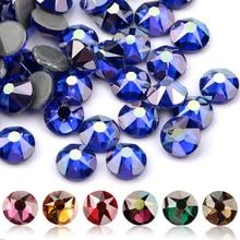 QIAO цвет покрытие серии Нежный AB Цвет SS16 SS20 8 большой 8 маленький кристалл стекло стразы горячей фиксации Стразы драгоценный камень