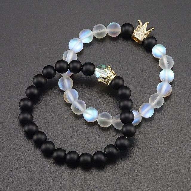 Bracelet Ajustable Pierre De Lune