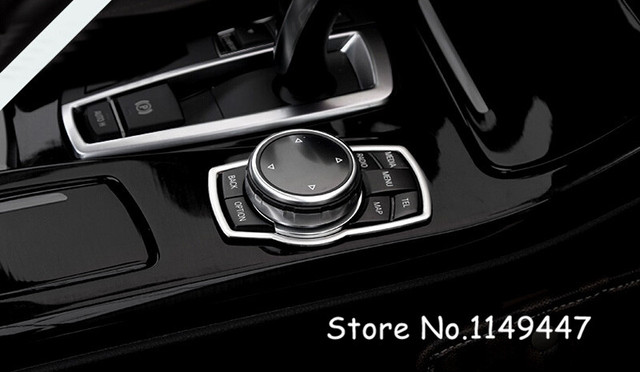 Aluminum Alloy Interior Car Styling Steering Wheel Decoration Cover 1* For BMW  7 Series