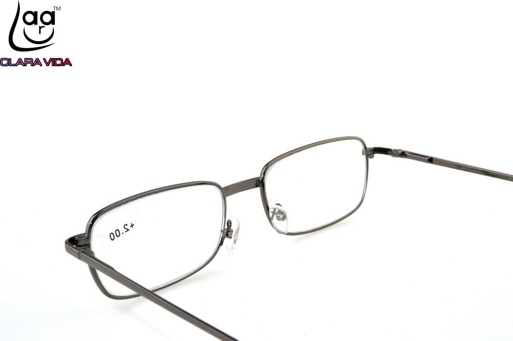 4f7364aa8e Gafas de lectura para hombre y mujer decoran gafas presbiópticas de vidrio  diópticas lisas + 1