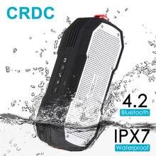 Crdc Bluetooth Динамик Водонепроницаемый 4.2 Беспроводной стерео мини-Портативный MP3-плеер Super Bass с микрофоном громкой связи колонки