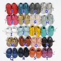 1pair retail 2016 new lace up Genuine leather baby moccasins soft boots moccs Baby soft shoes frings Toddler shoes boot 20colors