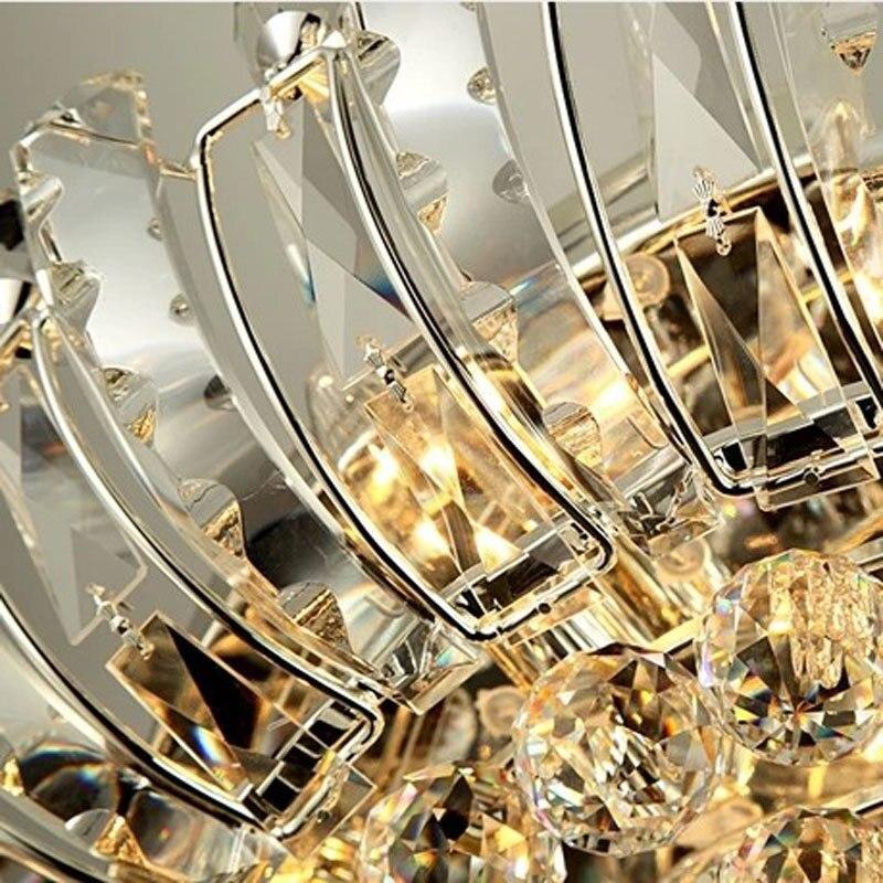 Современные хрустальные светильники, роскошные потолочные светильники с дистанционным управлением