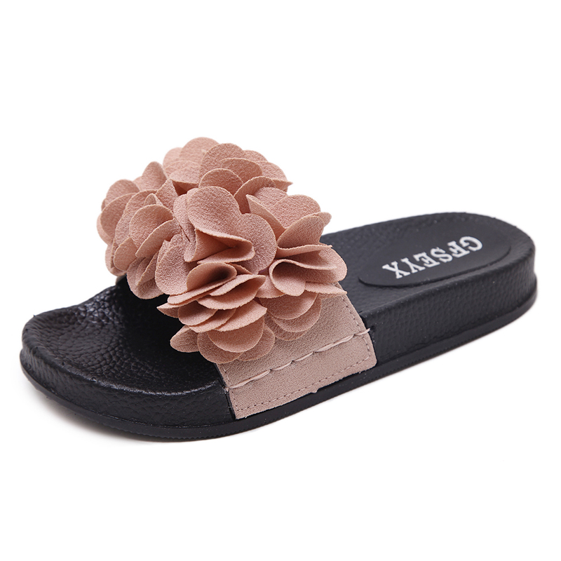 2018 Fashion Women Slippers Sweet Flower Beach Slides Ladies Soft Platform  Flip Flops Summer Outdoor Ciabatte Plus Size 35-44 f8f7d971d15da