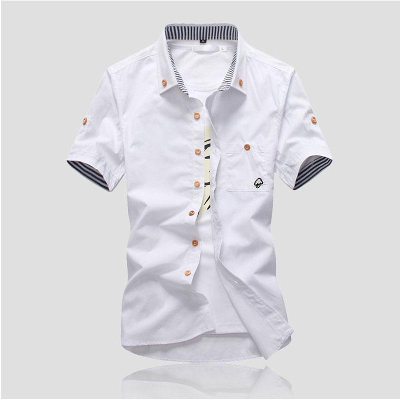 MarKyi plus size 5xl seta bordado para hombre de manga corta camisas - Ropa de hombre - foto 3