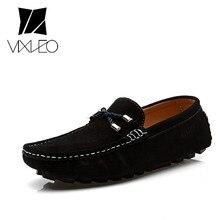 VIXLEO New 2017 Leisure Men s font b Shoes b font Fashion Slip on Loafers Genuine