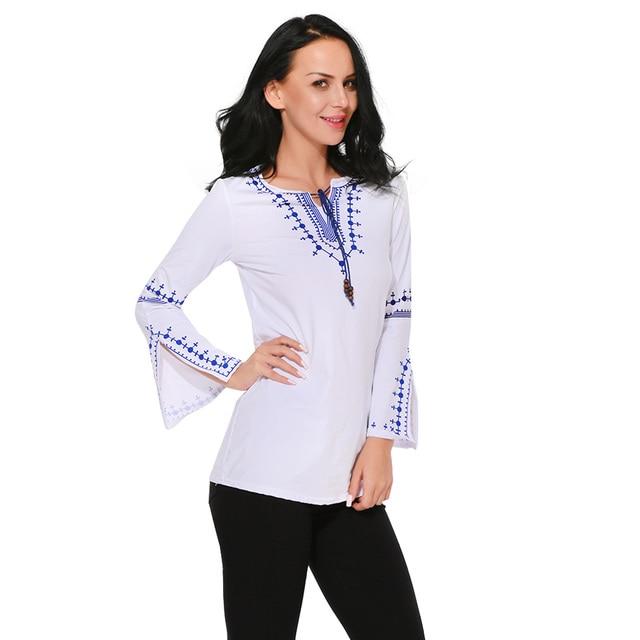 9e178ef61 2019 Moda Primavera Verão Mulheres Extravagantes Camisas Tops Dividir Manga  Comprida Blusas Mulheres Senhora Slim Fit