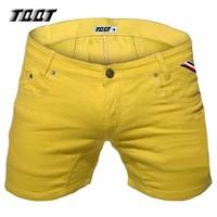 TQQT Mens Shorts Fashion Denim Shorts Slim Stretch Short Straight Short Male Low Waist Washed Solid Spliced Short Jeans 5P0602