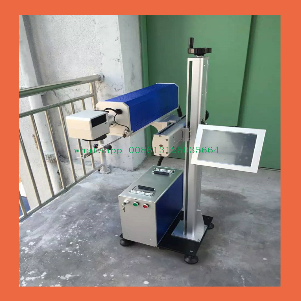 Automated assembly line laser marking machine Online flight fiber laser marking machine Date laser marking