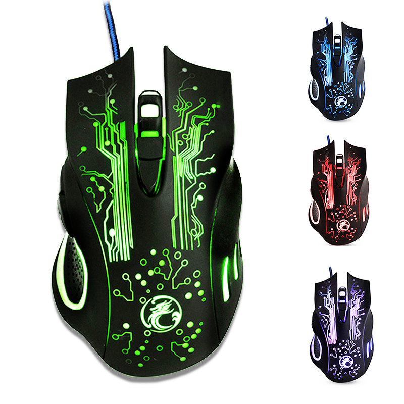 Wired Gaming Mouse 6 Buttons 5000DPI LED Optical USB Computer Mouse X9 for PC Laptop Mouse Gamer