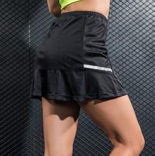 Tenis sukienka kobiety Tenis Skorts Sport spódnica spódnica do tenisa spodenki Jupe Tenis Falda Tenis dla Fitness Gym Workout Sportwear tanie tanio Poliester Stretch Spandex WOMEN Stałe tennis skirt Pasuje prawda na wymiar weź swój normalny rozmiar Aikutami Polyester fiber