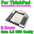 "Hot Sale 2nd Sata(ODD) to Sata(HDD) 9.5mm Second Caddy for ThinkPad T420 T520 W520 Sata 3.0 2.5"" SSD Hard Driver Enclosure"
