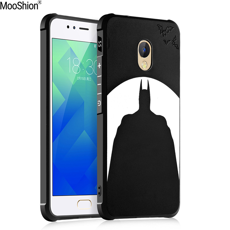 Mooshion Luxury Brand phone case For Meizu m5s case silicone Protective Batman cat pattern For meizu m5s mini back cover shell