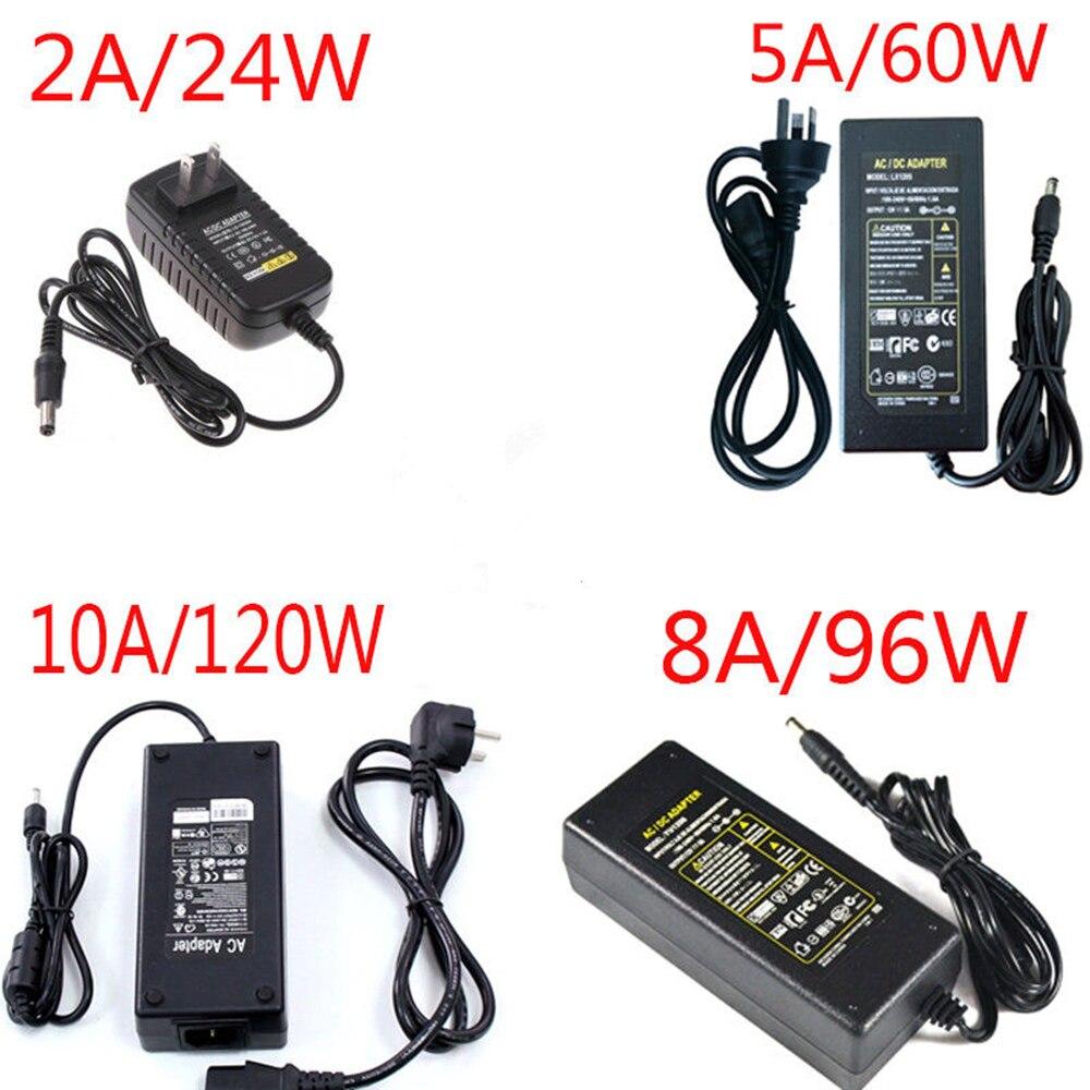 12 V Alimentation AC100 ~ 240 V À 12 V LED Pilote 1A 2A 3A 5A 6A 8A 10A Basse Tension Transformateur Pour LED Bande Lecteur HD CCTV routeur