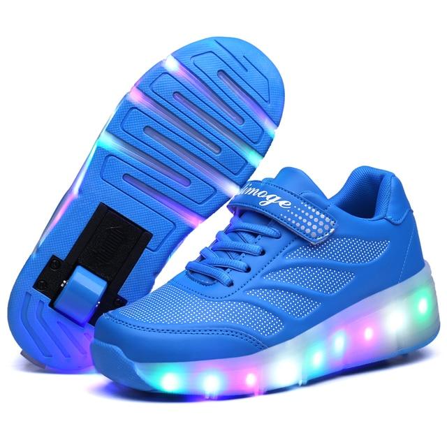 New Design Children Roller Sneakers with Wheel Boy Spring Roller Skate Shoes Girl Zapatillas Zapatos Con Ruedas