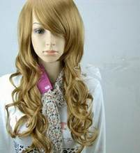 WIG Sexy Fashion Cosplay Party Blonde long hair Wave Full Wig Wigs Valentine Free Shipping(China)