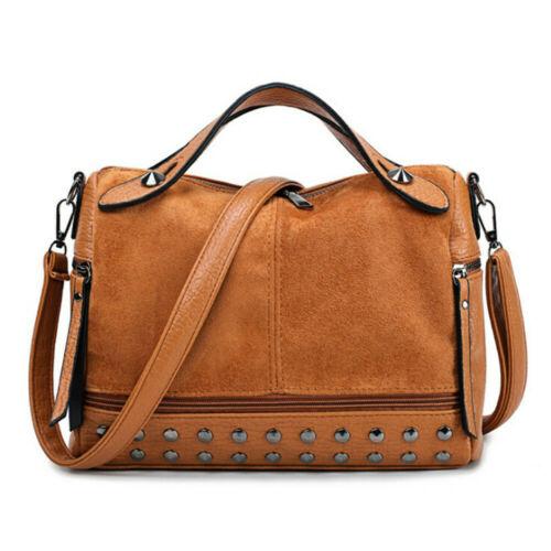 Womens Large Designer Style Tote Bag New Shoulder Handbag Cross Body Shopper Bag Studded Scrub Tote Bag Crossbody Shoulder Tote