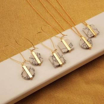 2016  fashion lady beautiful pendant earrings marble restoring ancient ways White stone square stud earrings EE558 ролевые игры orion toys набор для девочки маленький парикмахер в сумочке 3 предмета