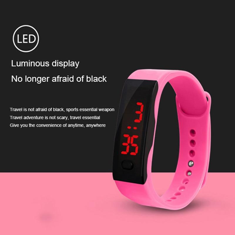 Watches Simply Children Girls Digital Sport Led Electronic Convenience Waterproof Clock Montre Enfant