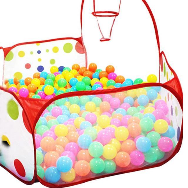 Pop-up Polka Dot Niños Bola de Piscina de Obra Acarreo Carpa Hexagonal totalizador 50 WNov30 Bolas de Juguete Para Niños Envío de La Gota de la Alta Calidad