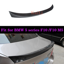 For BMW F10 AC Style Spoiler 2010-2016 5 Series Sedan Carbon M5 Rear Trunk Wings car styling