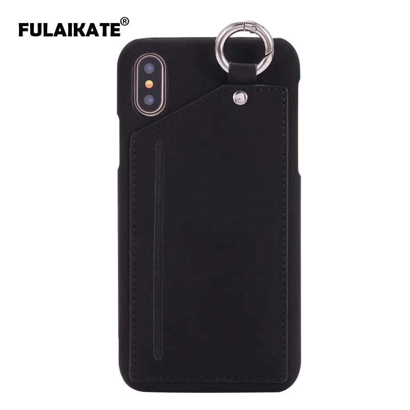 FULAIKATE Ring Case für iPhone X Striae Kartentasche Rückseite für - Handy-Zubehör und Ersatzteile
