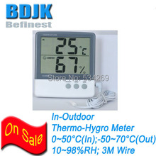 Indoor Digital Hygrometer & Thermometer with Sensor Wire Humidity and Temperature Measurement