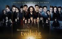 The Complete Twilight Saga Movie 3 Size Silk Fabric Canvas Poster Print