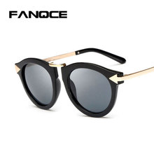 249854d827 FANQCE Vintage Flowers Sunglasses Women Retro Oval Arrow