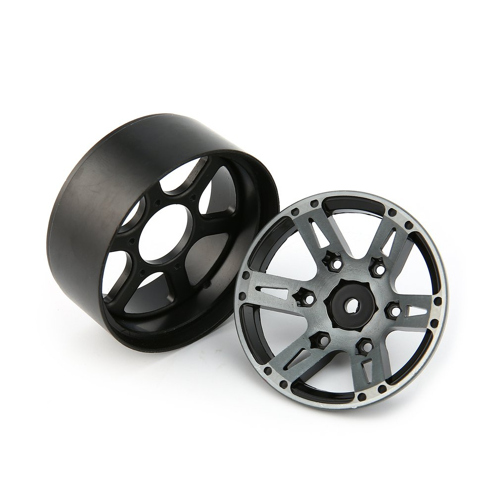 Image 4 - 4pcs T power 1.9 Inch RC Tires Beadlock Alloy Wheels Hub Beadlock Rim Set for 1/10 RC Car RC Component Spare Parts Accessories-in Parts & Accessories from Toys & Hobbies