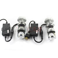 Free Shipping IPHCAR Mini H4 70W LED Projector Lens Car Styling High Low Beam For Car