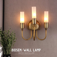 3 Heads American Country Creative Personality Living Room Bedroom LED Wall Lamp Modern Simple Hotel KTV