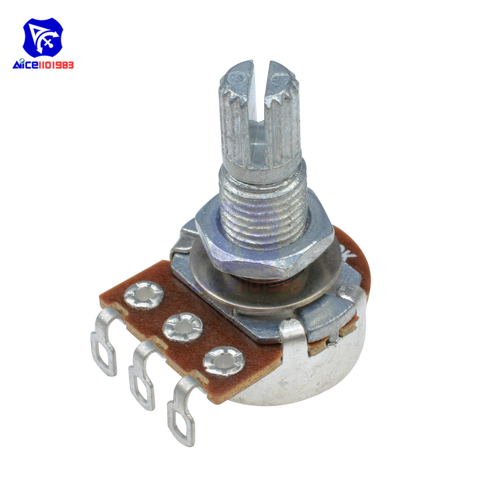 Guitar Potentiometer Resistor B500K Ohm 3 Pin Linear Taper Rotary Potentiometer For Electric Guitar