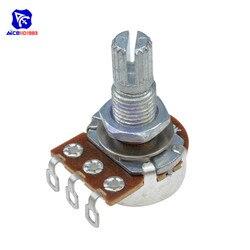 Potenciómetro de guitarra Resistor B500K Ohm 3 pines conicidad lineal potenciómetro giratorio para guitarra eléctrica