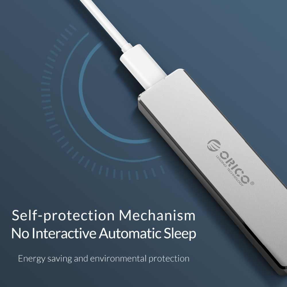 ORICO M.2 SSD Fall NVME Gehäuse für NVME PCIE NGFF SATA M/B Schlüssel SSD Disk SSD Festplatte fällen M.2 auf USB Typ C 3,1 Mit Kabel