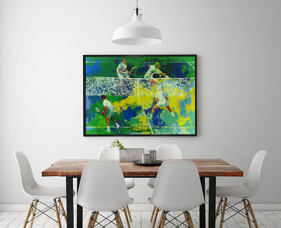 A1935 LeRoy Neiman Abstract Tennis Match. HD Canvas Print Home decoration Living Room bedroom Wall pictures Art painting