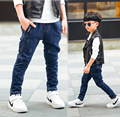Boy jeans 2017 spring and autumn children's trousers cotton leisure waist Korean Slim straight jeans kids