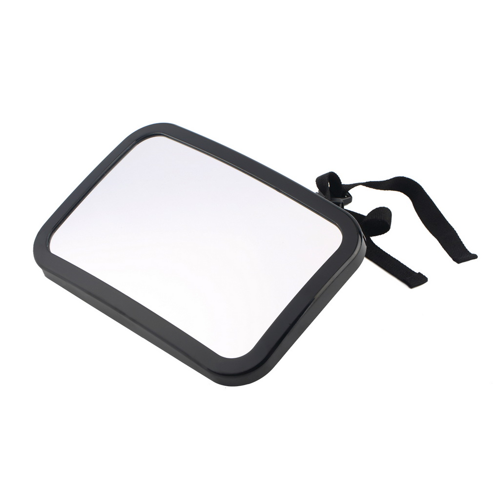 Adjustable Belt Back Seat Car Inner Mirror Square Facing Rear View Headrest Mount Mirror Safety Baby Kids Monitor Car Styling