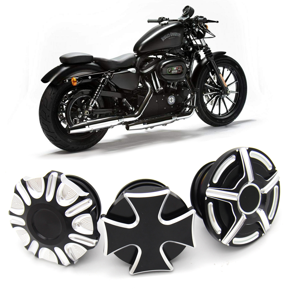 Motorcycle CNC Aluminum Fuel Gas Tank ROUGH CRAFTS Decorative Oil Cap For Harley Davidson Sportster XL 1200 883 X48 Dyna
