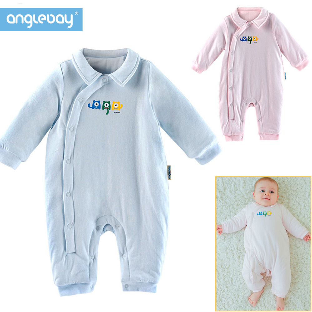 Anglebay Newborn Clothes 100% Natural Cotton Baby Boys Girls Knit Set for New Born Solid Long Sleeve Baby Clothing Sets Winter 100%cotton 3pcs lot baby rompers winter long sleeve baby boys clothing solid color o neck jumpsuit baby girls pajamas clothes
