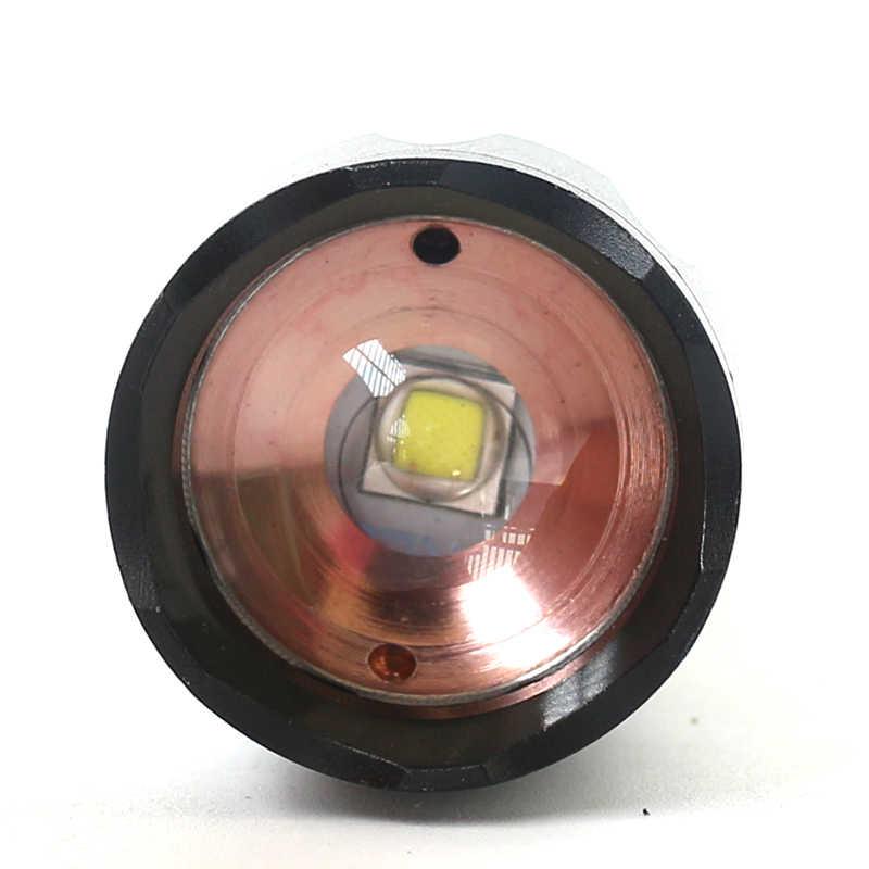 LED taktik el feneri torch 8000 lümen XM-L2 U3 zumlanabilir kendini savunma taşınabilir fener 5 modu ayarlanabilir kamp işık lambası