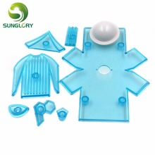 Decorating 9PCS Plastic Fondant Gumpaste DIY Soccer&Football Clothes Cookie Cutter Polo Shirt Cake Mold Baking Tools For Cakes diy 8pcs cake decorating tools plastic fondant cutter to create worldcup soccer boot trophy football sugarpaste craft cake mold