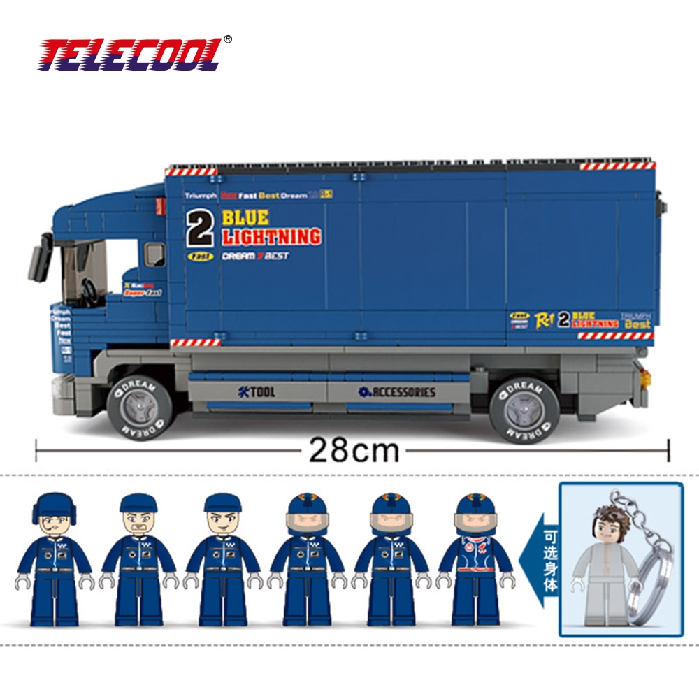 TELECOOL Powerful F1 Truck 641 Pcs ABS Plastic Building Blocks Education Toy For Kids Christmas Gift ws 641 1 статуэтка александр македонский 1221114