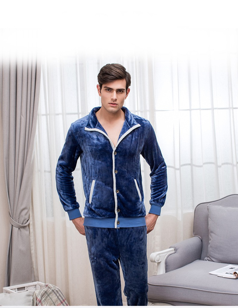 Winter XXL Warm Pijamas Couples Casual Pajama sets Men Thicken ... 80eb4ed22