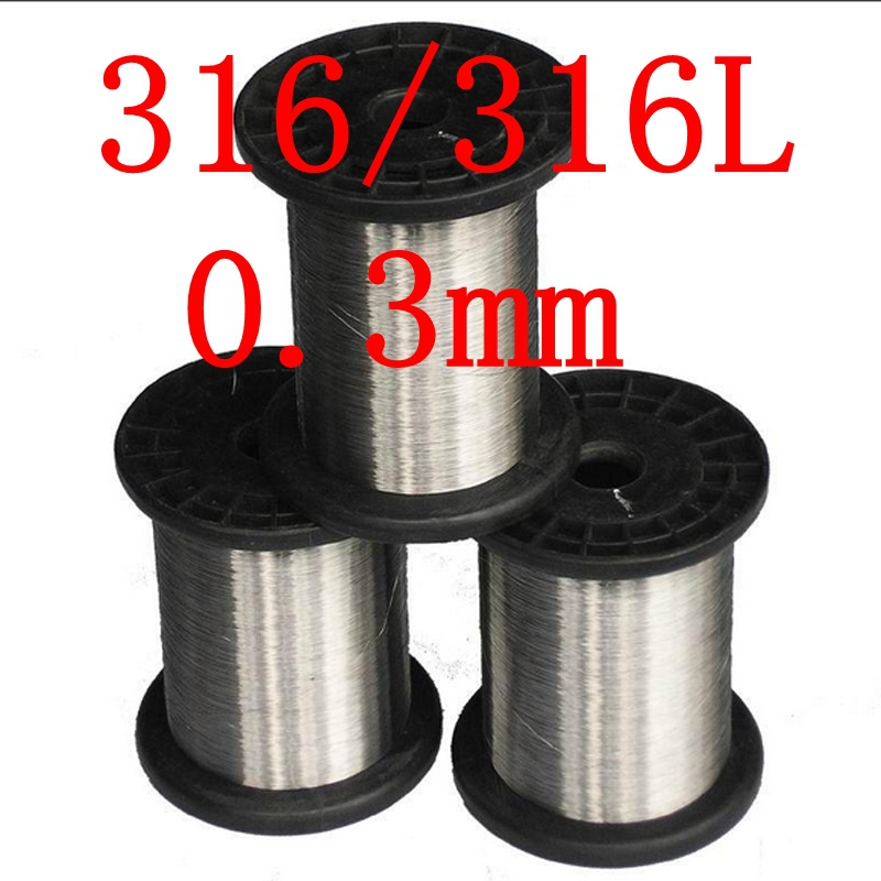 0.3mm,316/316L Soft Stainless Steel  Wire,30 gauge/0.3mm SS Seaworthy Thread 316l stainless steel wire soft diameter 0 8mm length 5 meter
