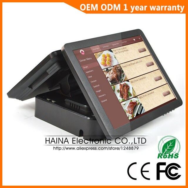 Haina タッチ 15 インチデュアル画面タッチスクリーン NFC Pos 端末デュアルスクリーン