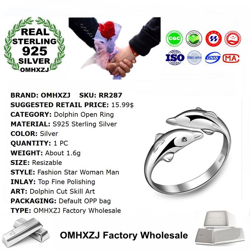 Женское и мужское кольцо OMHXZJ, серебряное кольцо из стерлингового серебра S925 пробы, для вечеринки и свадьбы, опт